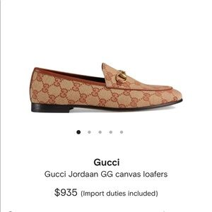 Gucci Jordaan GG Canvas Loafers 💕